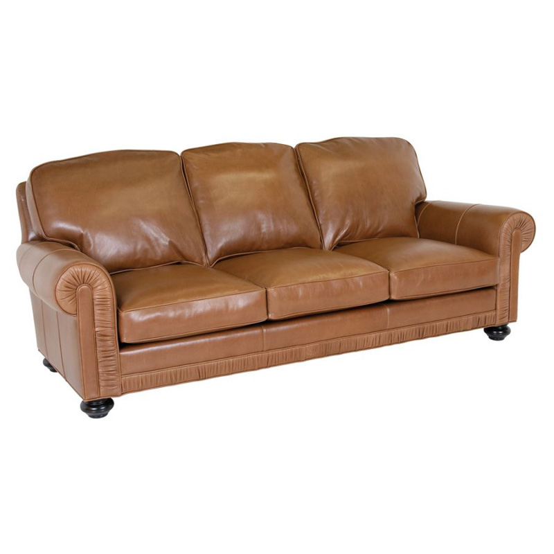 Leather Sofa Discount: Classic Leather 8208 Chambers Sofa Discount Furniture At