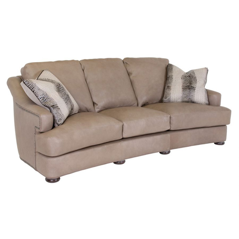 Leather Sofa Discount: Classic Leather 8218 Stegal Sofa Discount Furniture At