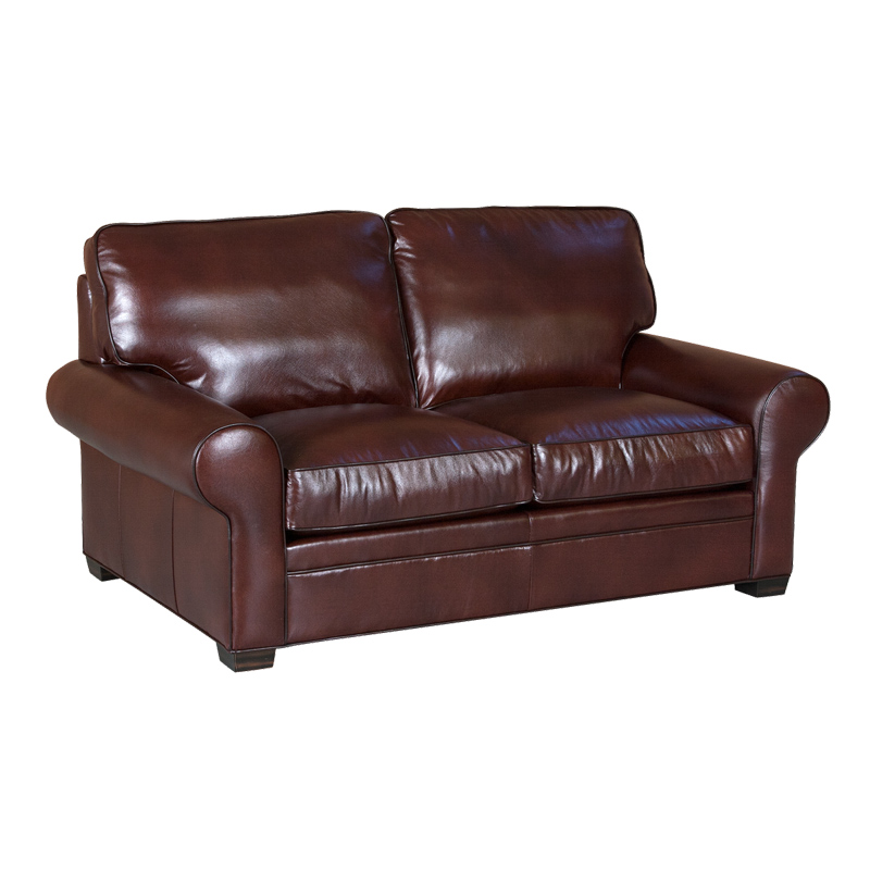 Classic leather 11517 library loveseat discount furniture for Cheap classic sofas