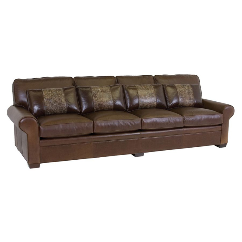 Leather Sofa Discount: Classic Leather 11518-115 Leather Sofa Library 115 Inch