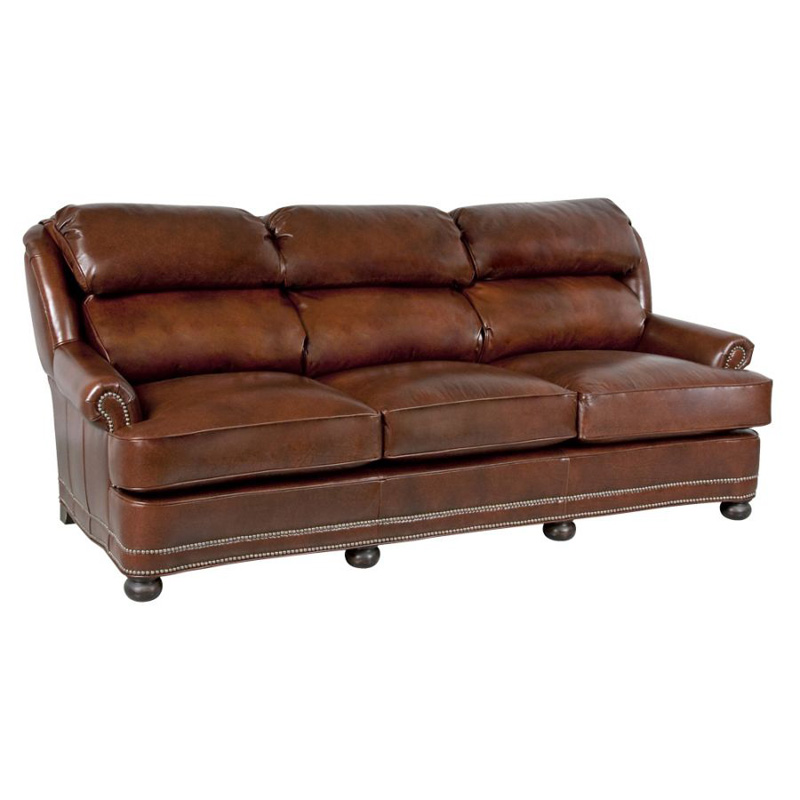 Leather Sofa Discount: Classic Leather 53-72-3/3-WT Leather Sofa Hamilton 86 Inch