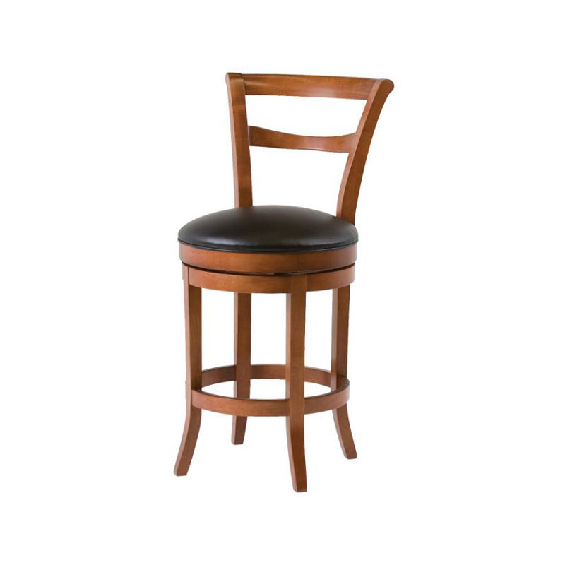 Classic Leather 7673asb Barstool Parker Armless Swivel Bar