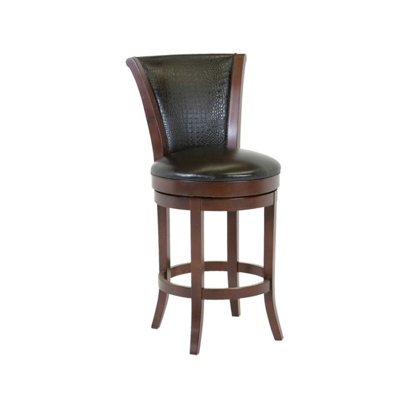 Classic Leather 7674asb Barstool Parker Upholstered Back