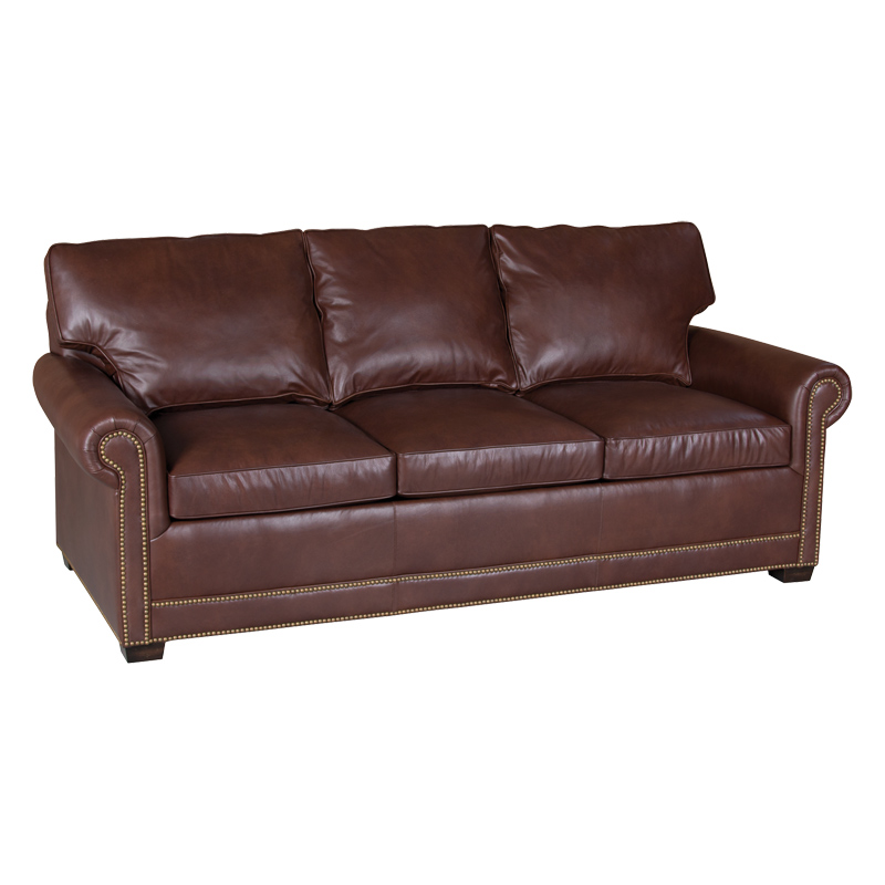Sleeper sofa 73 sale at hickory park furniture galleries for Traditional leather sofas sale