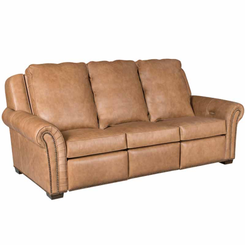 Leather Sofa Discount: Classic Leather 11523-INC-MR Mcgregor Motorized Incliner