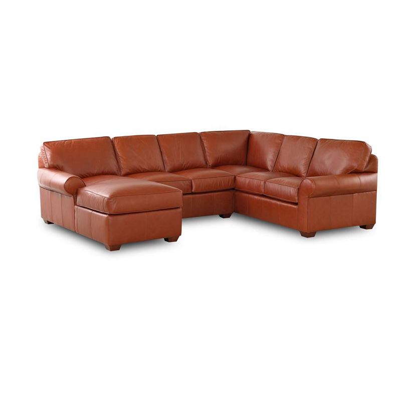 Comfort Design Cl4004 Sect Journey Leather Sectional Discount Furniture At Hickory Park