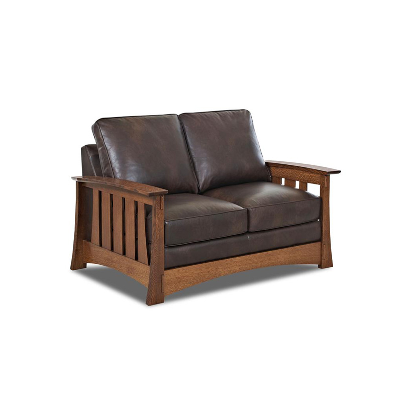 Comfort Design Cl7016 Ls Highlands Leather Stationary Loveseat Discount Furniture At Hickory