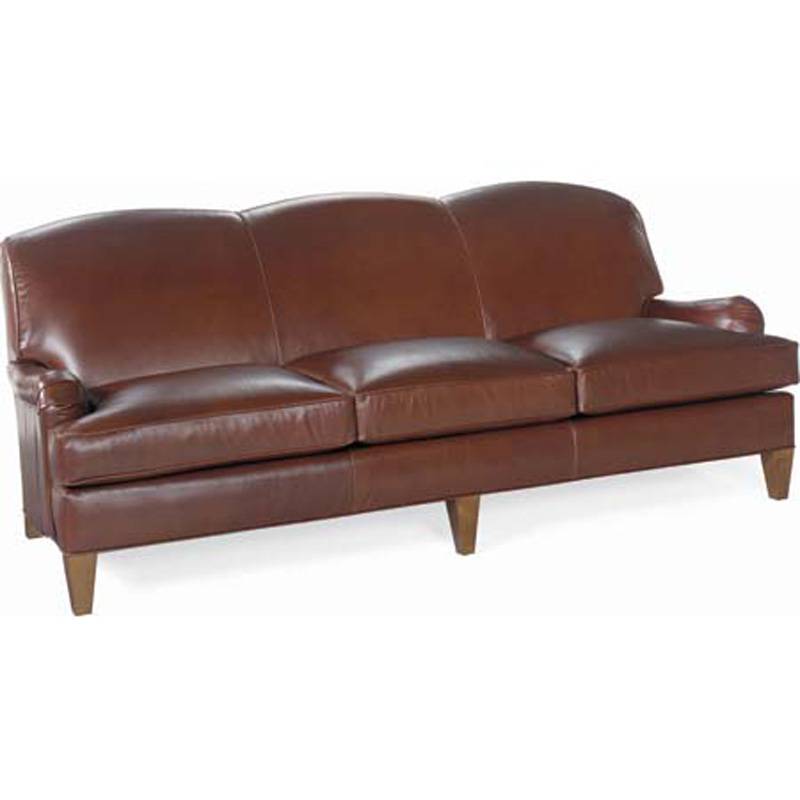Inexpensive Leather Sofa: CR Laine L8520 Russel Leather Sofa Discount Furniture At