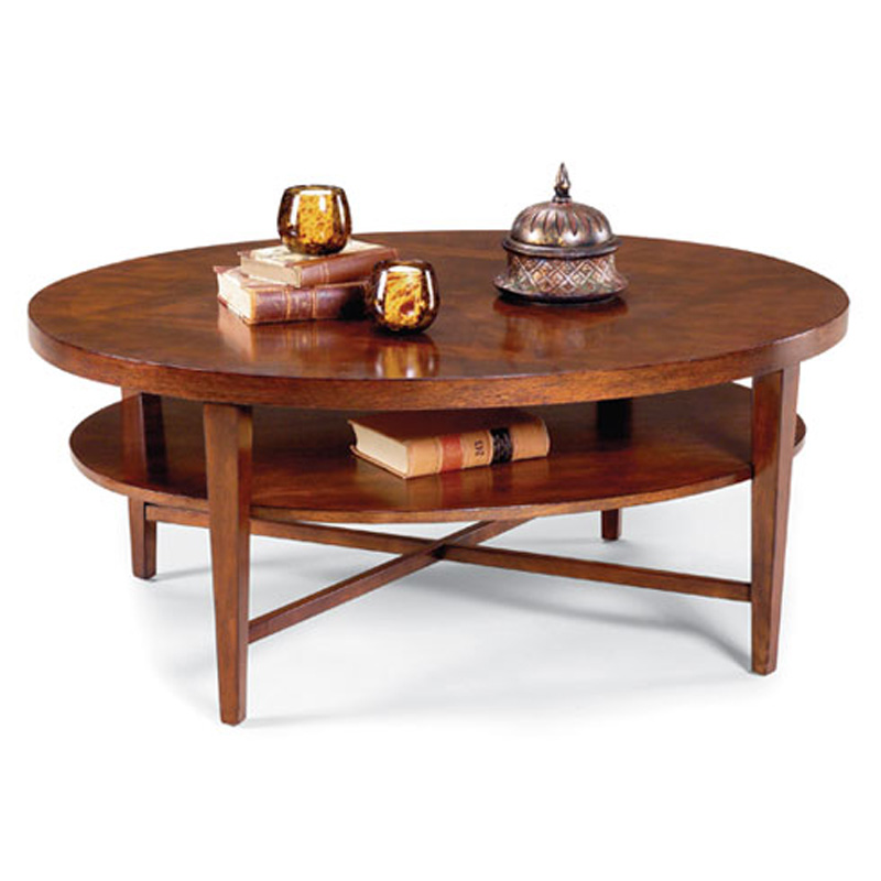 Fairfield 8010 46 occasional collection oval cocktail table discount furniture at hickory park Collectors coffee table