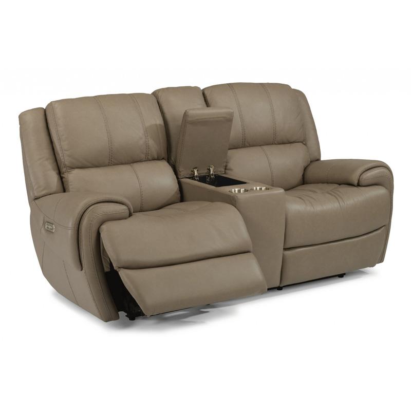 Flexsteel 1179 62ph Nance Leather Power Reclining Sofa