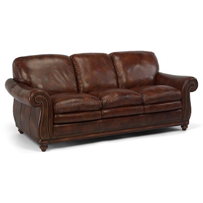 Flexsteel 1606 31 belvedere sofa discount furniture at for Discount leather furniture