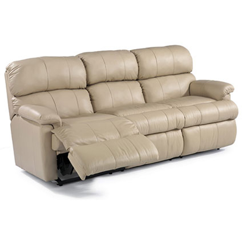 Flexsteel 3066 62 Chicago Leather Double Reclining Sofa