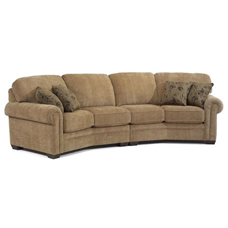 Flexsteel Conversation Sofa Leather 3966 Digby