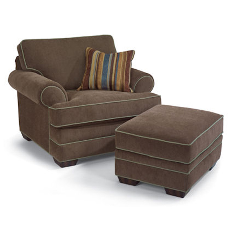 Flexsteel 7354-10-08 Lehigh Chair and Ottoman Discount Furniture at Hickory Park Furniture Galleries