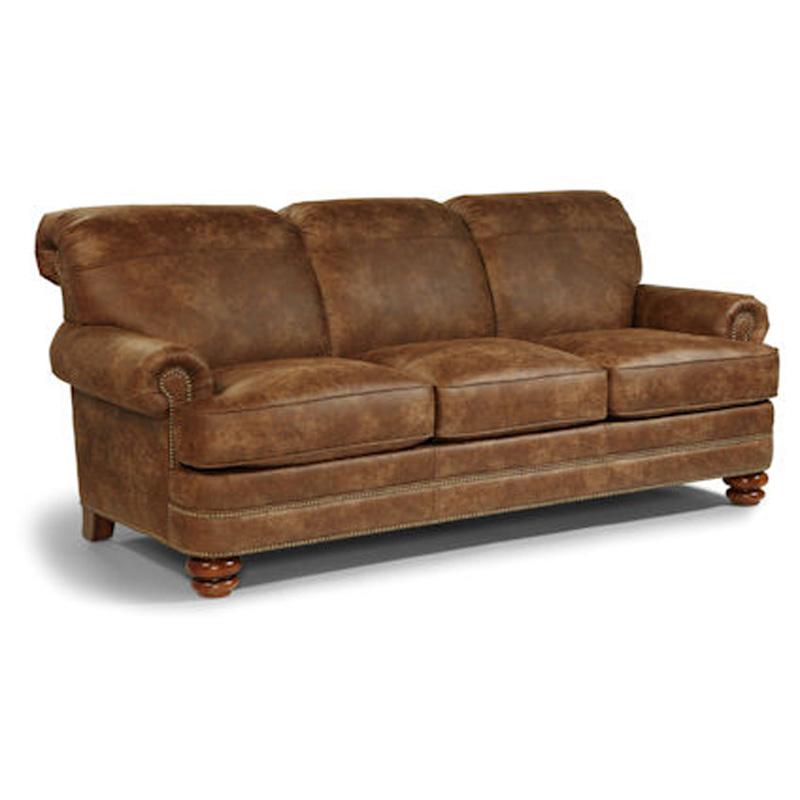 Leather Furniture Outlet North Carolina: Flexsteel N7791-31 Bay Bridge Sofa Discount Furniture At