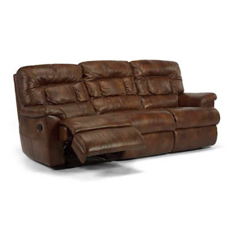 Leather Sofa Discount: Flexsteel 1221-62 Great Escape Leather Double Reclining