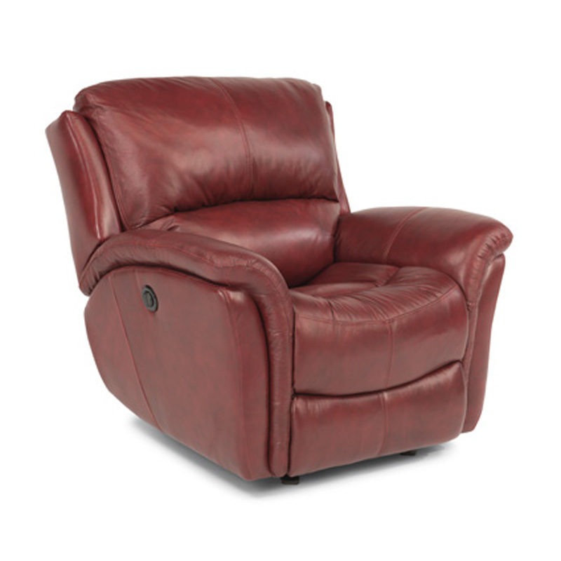 Flexsteel 1445 54P Dominique Leather Power Glider Recliner