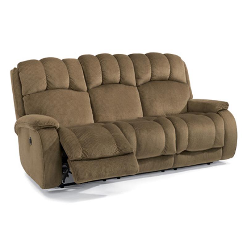 Flexsteel Electric Sofa: Flexsteel 4841-62M Huron Fabric Power Reclining Sofa