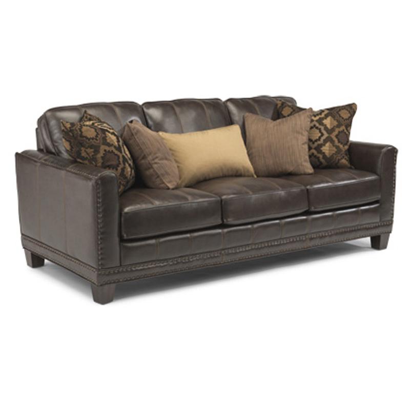 Flexsteel 1373 31 Port Royal Leather Sofa Discount