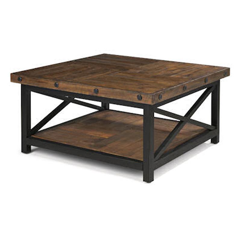 Flexsteel 6722 032 carpenter square cocktail table for Square cocktail table