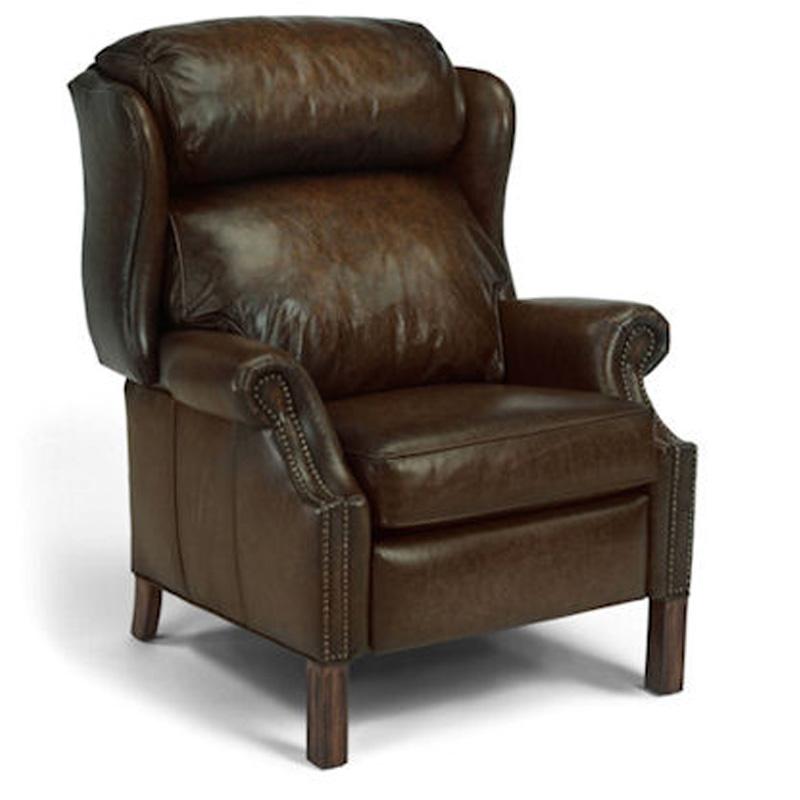 Leather Furniture Outlet North Carolina: Flexsteel 1169-50 Bonneville Recliner Discount Furniture