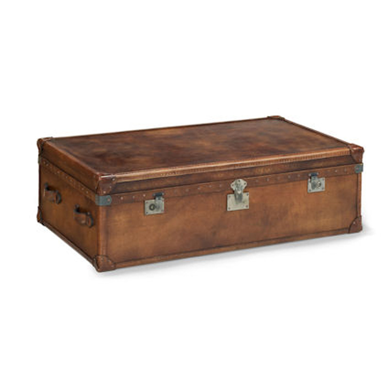 Cheap Furniture Delivered: Flexsteel 6712-31TR Whiskey Rectangular Trunk Discount