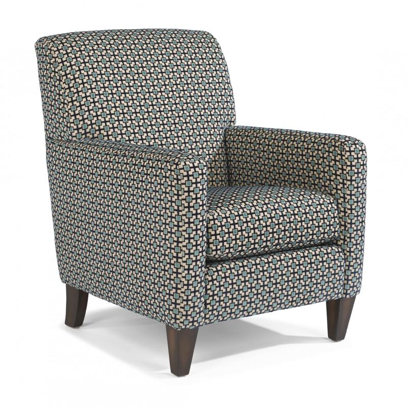 Flexsteel 0410 10 Cute Fabric Chair Discount Furniture At