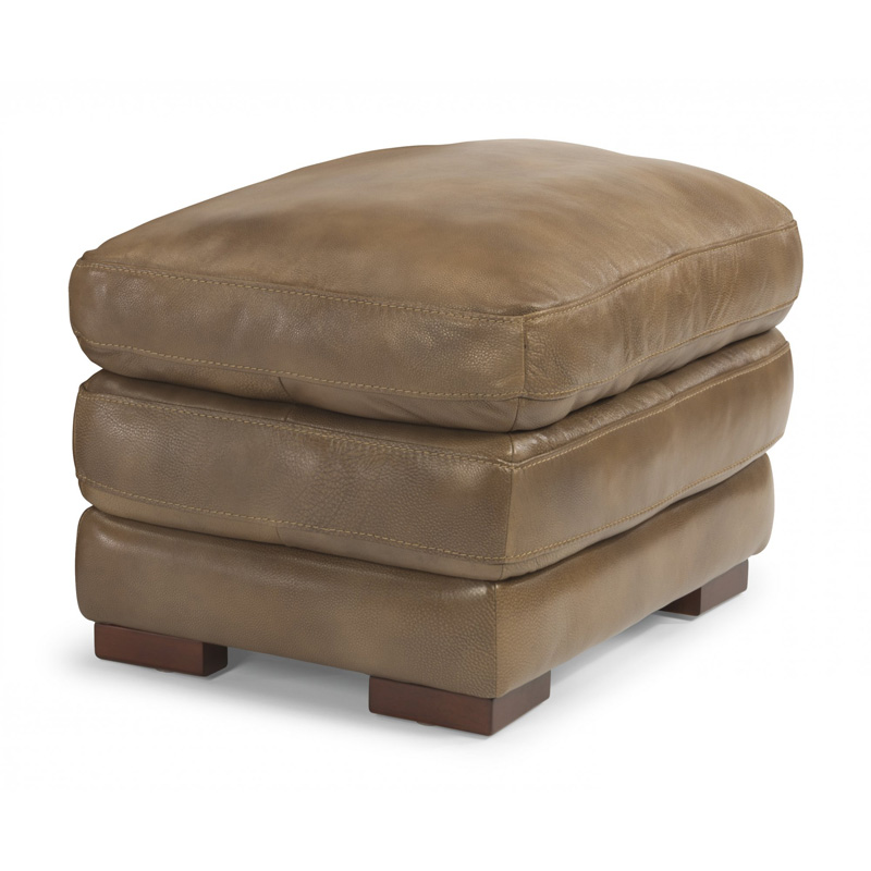 Flexsteel 1127 08 Dylan Leather Ottoman Without Nailhead
