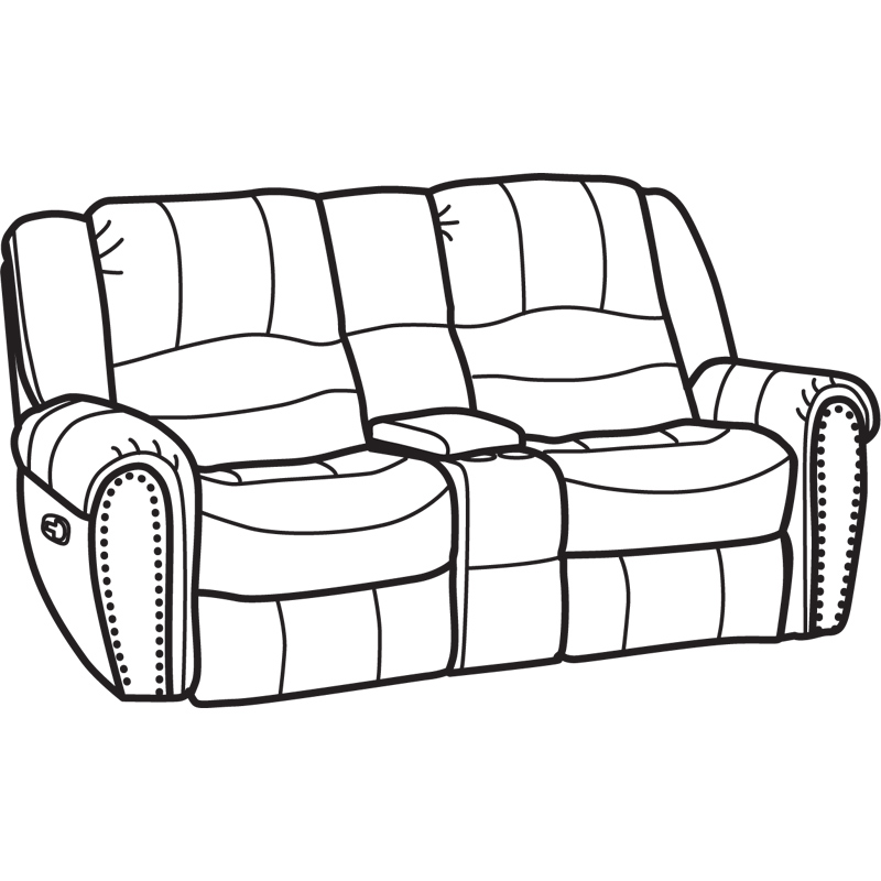Flexsteel 1410 604 New Fabric Gliding Reclining Loveseat