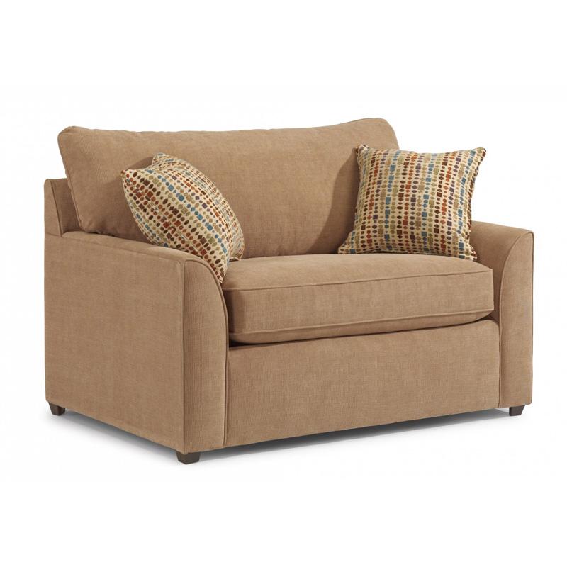 Flexsteel 5541 41 Key Fabric Twin Sleeper Chair And A Half