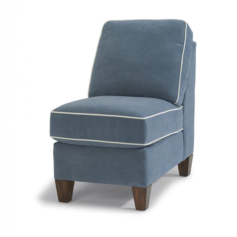 Flexsteel 3979 19 Westside Leather Armless Chair Discount