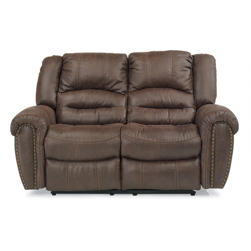 Flexsteel 1710 60 Downtown Fabric Reclining Loveseat Discount Furniture At Hickory Park