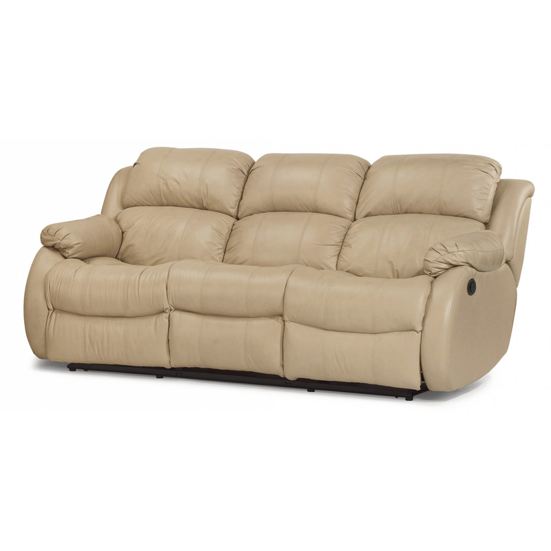 Flexsteel 1206-62P Brandon Leather Power Reclining Sofa