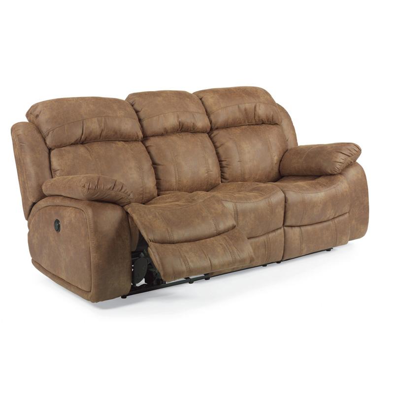 Flexsteel 1408 62p Como Nuvoleather Power Reclining Sofa
