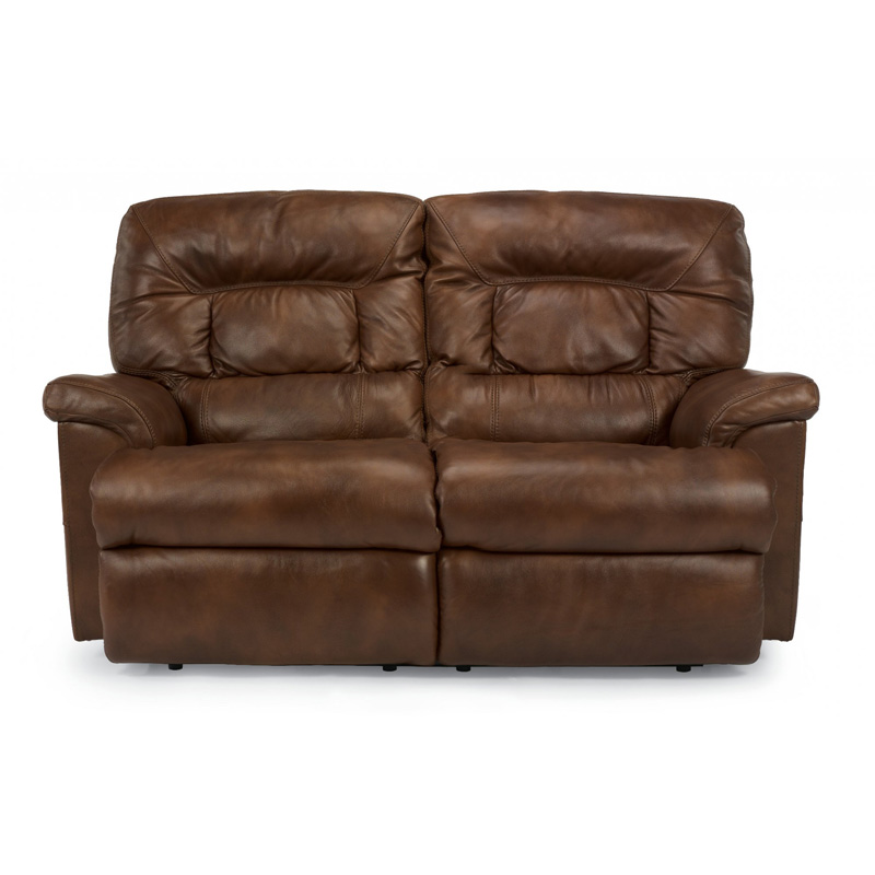 Flexsteel 1221 60p Great Leather Reclining Loveseat