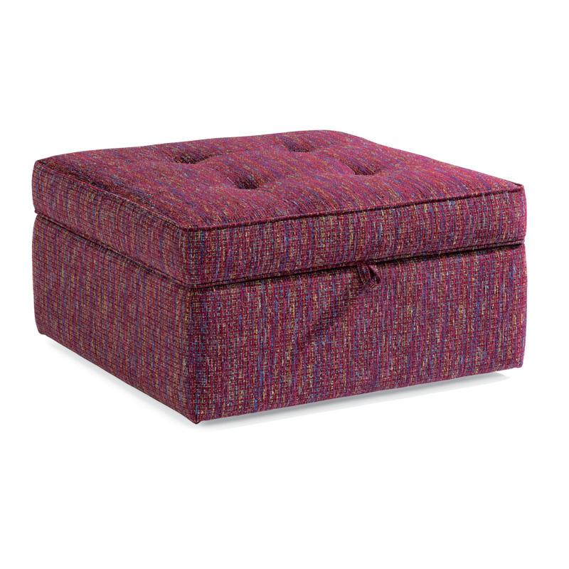 flexsteel 7408 092s daphne fabric square storage ottoman