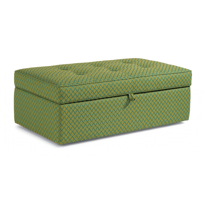 flexsteel 7408 091s daphne fabric rectangular storage
