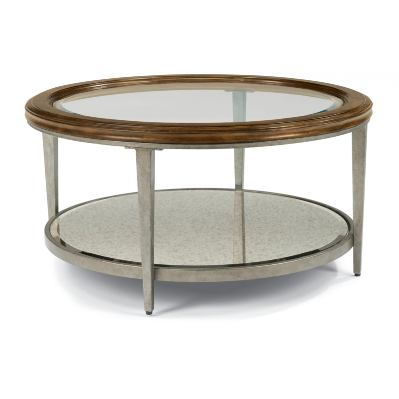 Flexsteel 6727 034 Patina Round Coffee Table Discount Furniture At Hickory Park Furniture Galleries