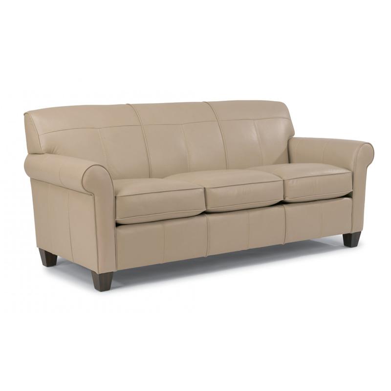 Inexpensive Leather Sofa: Flexsteel B3990-31 Dana Leather Sofa Discount Furniture At