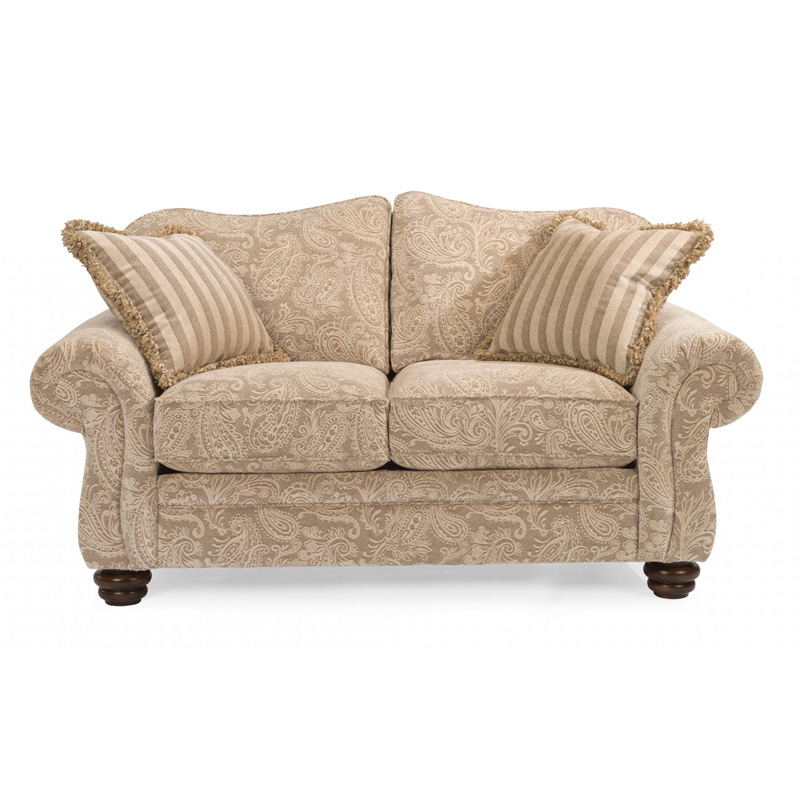 Flexsteel 8646 20 Bexley One Tone Fabric Loveseat Without