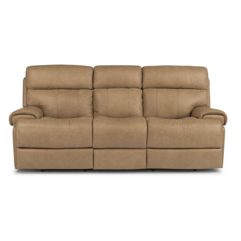 Flexsteel Electric Sofa: Flexsteel 1441-62P Margot Leather Power Reclining Sofa