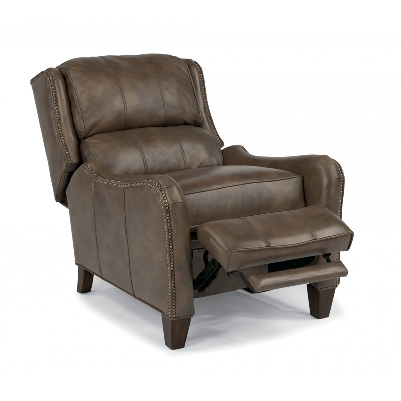 Legends At Charleston Park: Flexsteel 1136-50P Lukas Leather Power High Leg Recliner