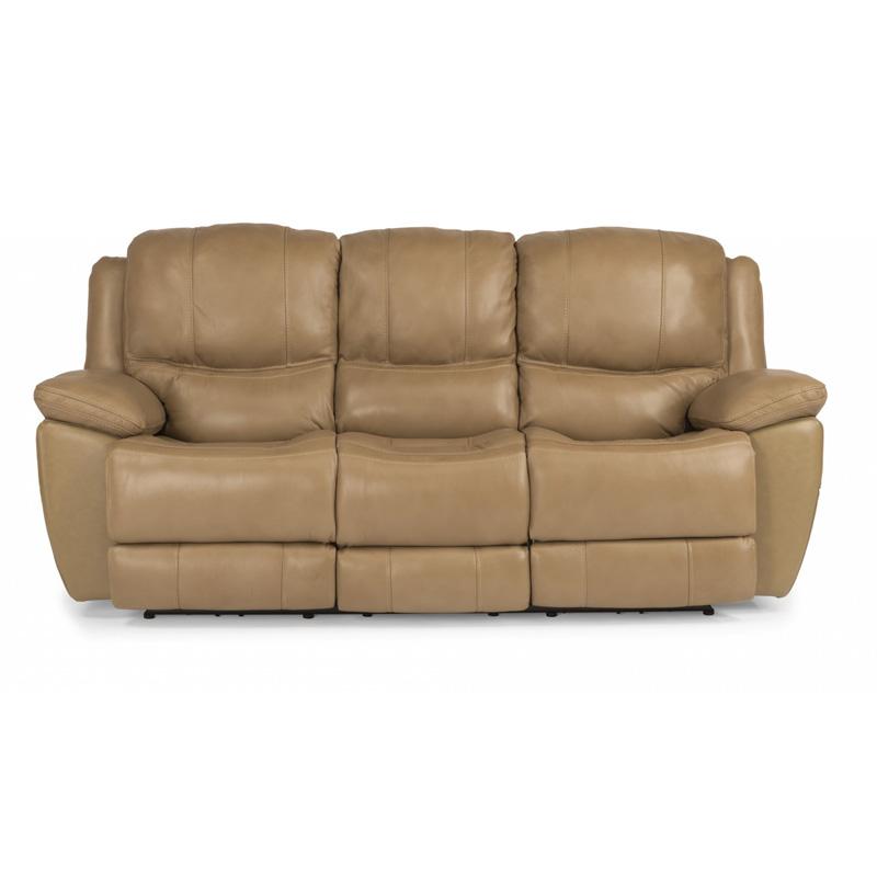 Best Leather Reclining Sofa Brands: Flexsteel 1491-62P Estella Leather Power Reclining Sofa