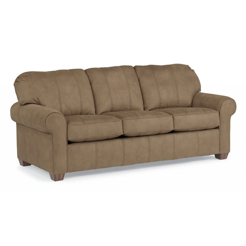 Flexsteel N5535 31 Thornton NuvoLeather Three Cushion Sofa