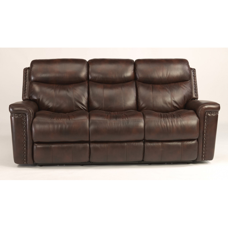Flexsteel 1339 62p grover leather power reclining sofa for Discount leather furniture