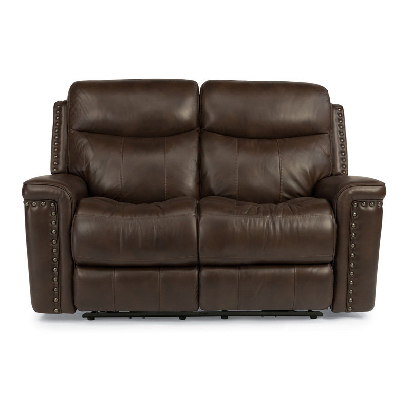 Leather Power Reclining Sofa At Costco: Flexsteel 1339-60P Grover Leather Power Reclining Loveseat