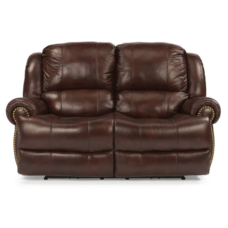 Flexsteel 1311 60p Capitol Leather Power Reclining Loveseat Discount Furniture At Hickory Park