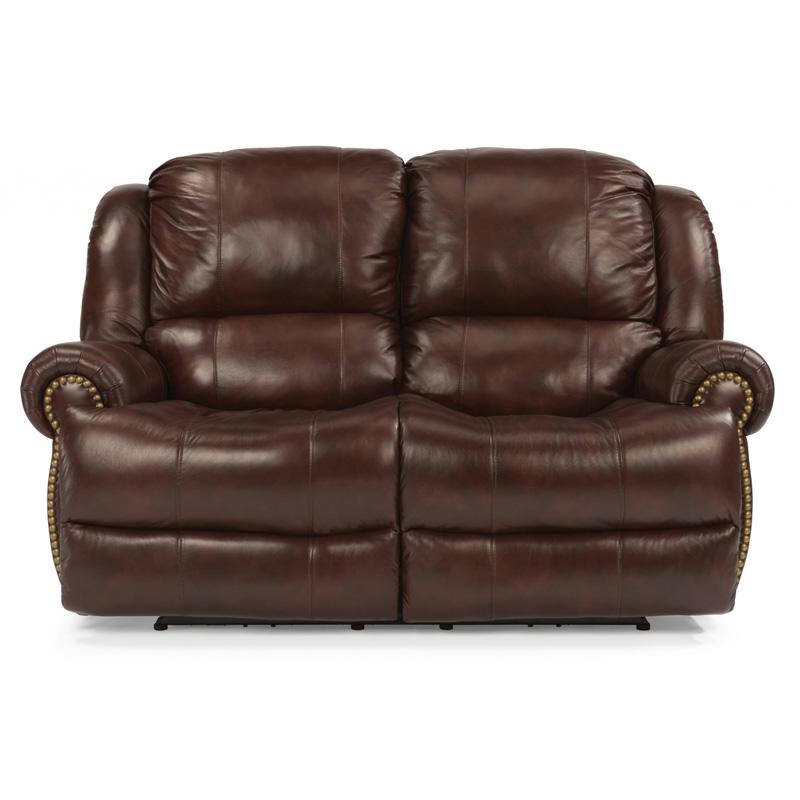 Flexsteel Sofa Vintage: Flexsteel 1311-60P Capitol Leather Power Reclining