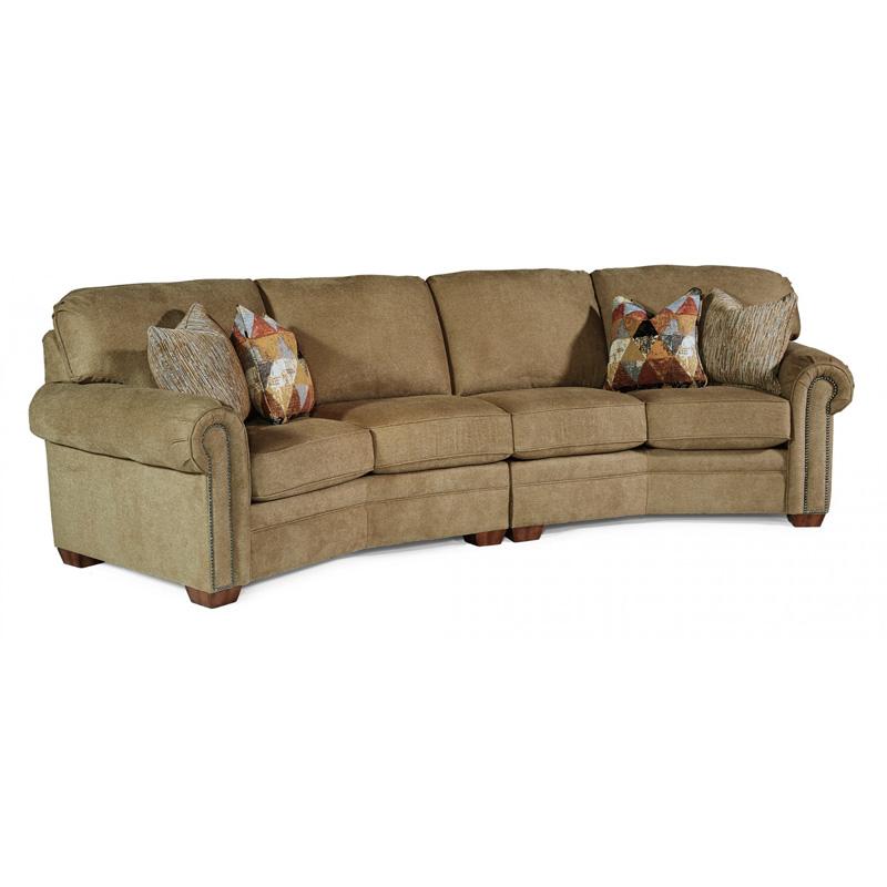 Flexsteel Sofa Vintage: Flexsteel 7270-325 Harrison Fabric Conversation Sofa With