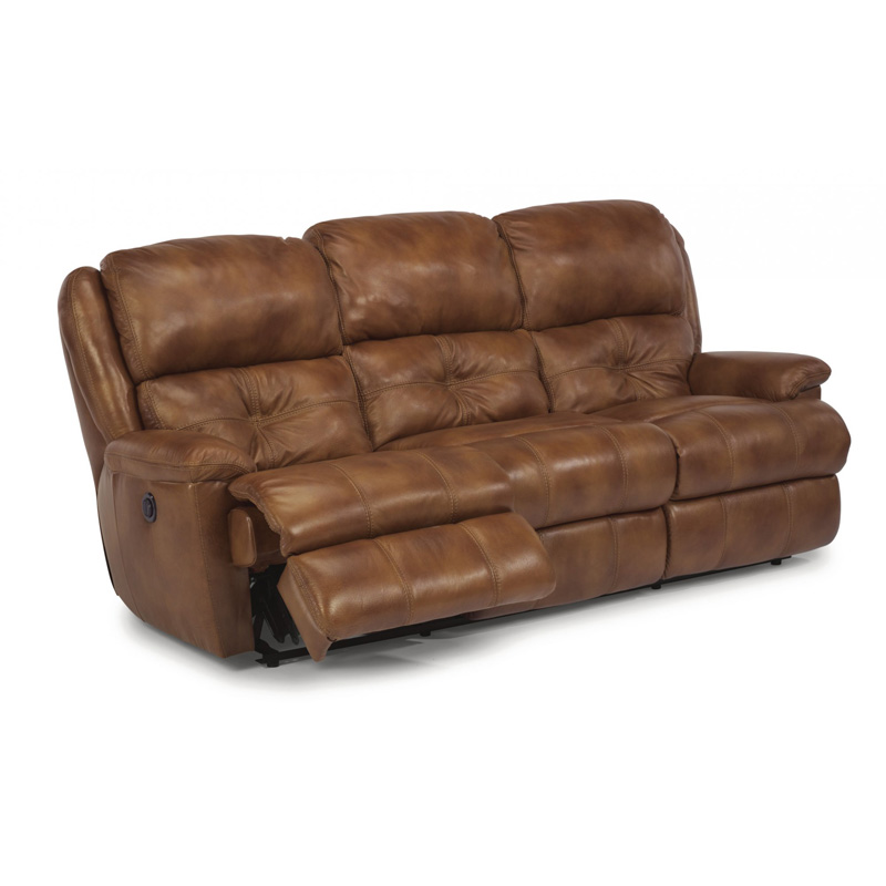 Leather Sofa Discount: Flexsteel 1226-62P Cruise Leather Power Reclining Sofa